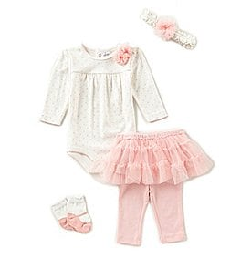 Image of Starting Out Baby Girls Newborn-9 Months 4-Piece Layette Set