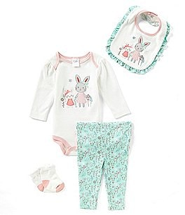 Image of Starting Out Baby Girls Newborn-9 Months Bunny 4-Piece Layette Set