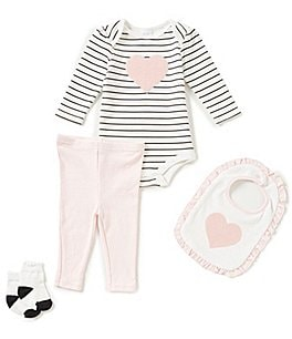 Image of Starting Out Baby Girls Newborn-9 Months Heart 4-Piece Layette Set