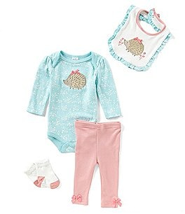 Image of Starting Out Baby Girls Newborn-9 Months Porcupine 4-Piece Layette Set