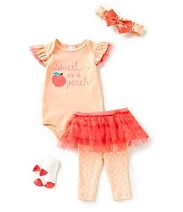 Image of Starting Out Baby Girls Newborn-9 Months Sweet Peach 4-Piece Layette Set