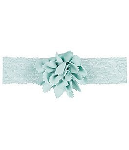 Image of Starting Out Baby Girls Nylon Flower Lace Headwrap