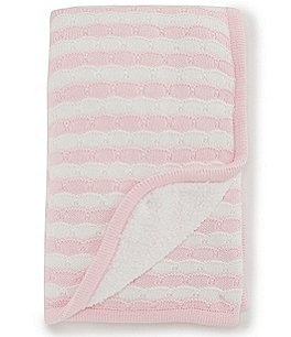 Image of Starting Out Baby Girls Scallop Stripe Blanket