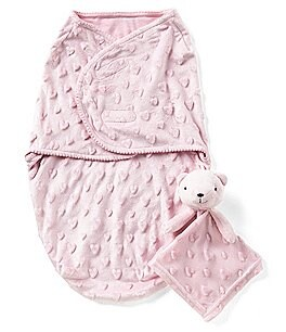 Image of Starting Out Baby Girls Swaddle Blanket & Blanket Buddy Set