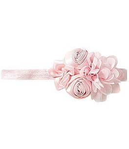 Image of Starting Out Satin Rosette & Chiffon Flower Headband