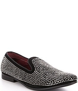 Image of Steve Madden Men's Caviarr Crystal Embellishment Slip-On Loafers