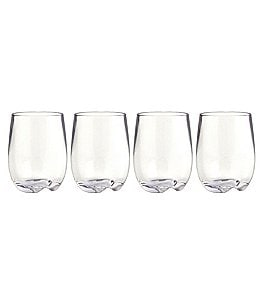 Image of Strahl Design+Contemporary Osteria Stemless Wine Glasses, Set of 4