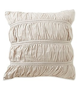 Image of Studio D Allegro Ruched Cotton Percale Euro Sham
