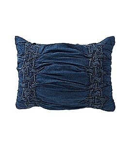 Image of Studio D Trista Ruched Denim Sham