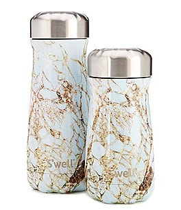 Image of S'well Elements Collection Calcatta Gold Stainless Steel Insulated Traveler Bottle