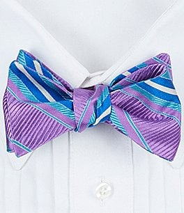 Image of Ted Baker London Vero Beach Striped Bow Tie