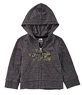 Image of The North Face Baby Boys 3-24 Months Tri-blend Full Zip Hoodie
