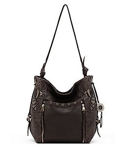 Image of The Sak Ojai Leaf Cutout Tasseled Bucket Bag
