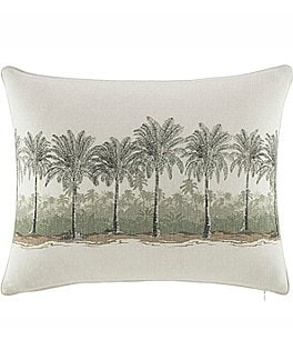 Image of Tommy Bahama Canvas Stripe Breezer Palm Faux-Linen Pillow