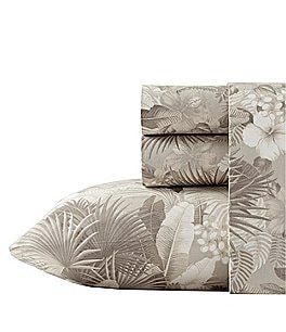 Image of Tommy Bahama Hibiscus Haven 200-Thread-Count Cotton Percale Sheet Set
