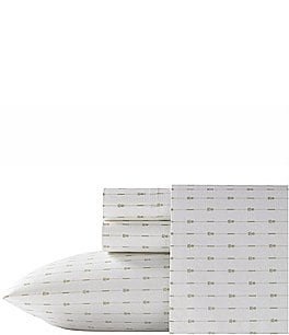 Image of Tommy Bahama Pineapple Pinstripe Stonewashed 200-Thread-Count Cotton Percale Sheet Set