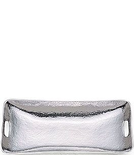 Image of Towle Silversmiths Hammered Metal Rectangular Tray
