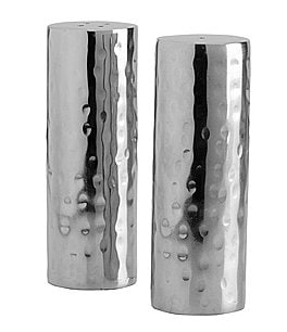 Image of Towle Silversmiths Hammered Salt & Pepper Shaker Set