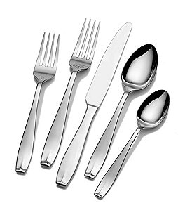Image of Towle Silversmiths Memoire 53-Piece Stainless Steel Flatware Set