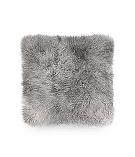 Image of UGG® Cashmere Faux-Fur & Faux-Suede Square Feather Pillow