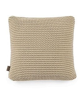 Image of UGG® Snow Creek Chunky-Knit Feather Pillow