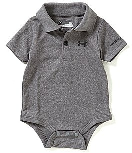 Image of Under Armour Baby Boys Newborn-12 Months Solid Polo Short-Sleeve Bodysuit