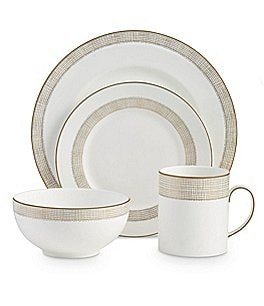 Image of Vera Wang by Wedgwood Gilded Weave 4-Piece Setting