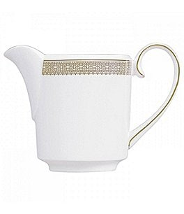 Image of Vera Wang by Wedgwood Vera Lace Gold Bone China Creamer