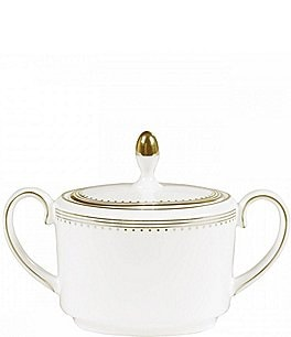 Image of Vera Wang Wedgwood Grosgrain Covered Sugar Bowl