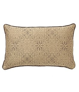 Image of Veratex Bentley Medallion-Embroidered Satin Boudoir Pillow