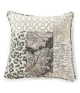 Image of Villa by Noble Excellence Lucca Animal & Patchwork Square Pillow