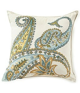 Image of Villa by Noble Excellence Renata Embroidered Square Pillow
