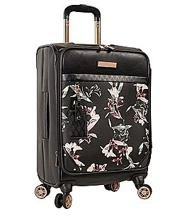 "Image of Vince Camuto Kendahl Black Lilies 20"" Carry-On Spinner"