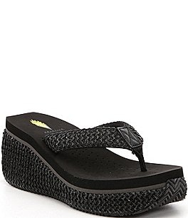 Image of Volatile Zadie Raffia Platform Wedge Sandals
