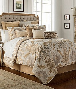 Image of Waterford Ansonia Floral Jacquard Comforter Set