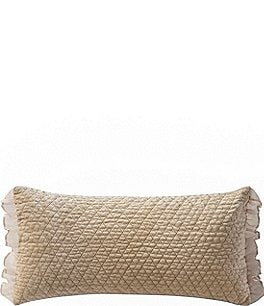 Image of Waterford Ansonia Quilted Velvet & Ruffled Georgette Breakfast Pillow