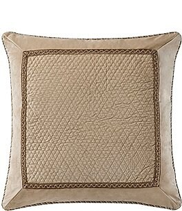 Image of Waterford Ansonia Quilted Velvet Euro Sham