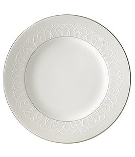 Image of Waterford Ballet Icing Pearl Platinum Bone China Accent Salad Plate