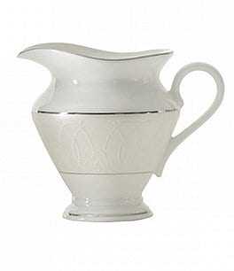Image of Waterford Ballet Icing Pearl Platinum Bone China Creamer
