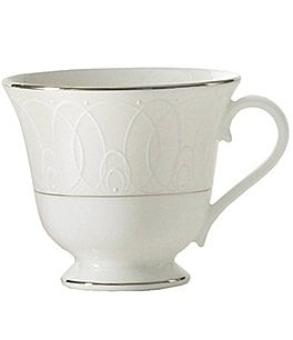 Image of Waterford Ballet Icing Pearl Platinum Bone China Cup