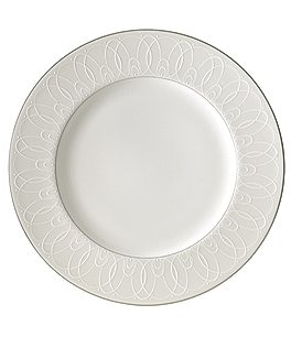 Image of Waterford Ballet Icing Pearl Platinum Bone China Dinner Plate