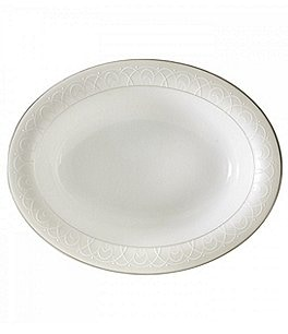 Image of Waterford Ballet Icing Pearl Platinum Bone China Vegetable Bowl