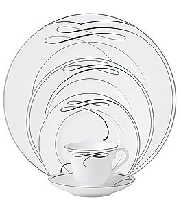 Image of Waterford Ballet Ribbon China 5-Piece Place Setting
