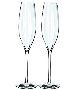 Image of Waterford Crystal Elegance Optic Champagne Flutes, Set of 2