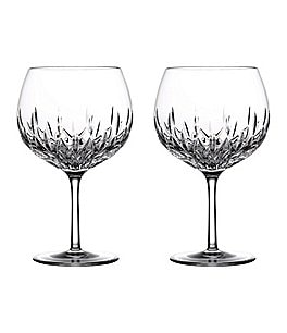 Image of Waterford Crystal Gin Journeys Lismore Balloon Glasses, Set of 2
