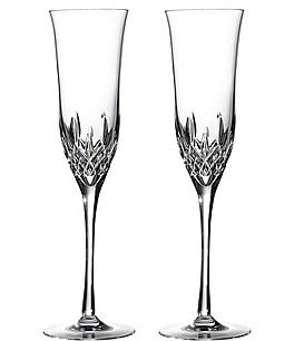 Image of Waterford Crystal Lismore 60th Anniversary Collection Lismore Essence Flute Pair