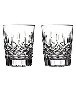 Image of Waterford Crystal Lismore Double Old-Fashioned Glasses, Set of 2
