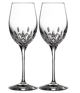 Image of Waterford Crystal Lismore Essence White Wine Glasses, Set of 2