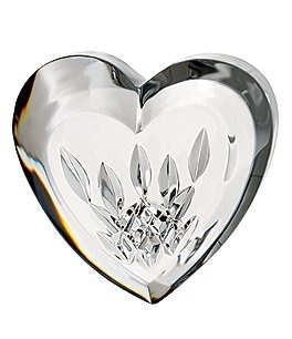 Image of Waterford Crystal Lismore Heart Paperweight