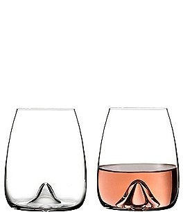 Image of Waterford Elegance Series Crystal Stemless Wine Glass Pair